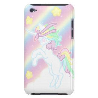 Unicornio lindo del arco iris barely there iPod protector