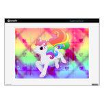 Unicornio lindo del arco iris skins para 38,1cm portátil