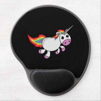 Unicornio lindo del dibujo animado alfombrilla con gel