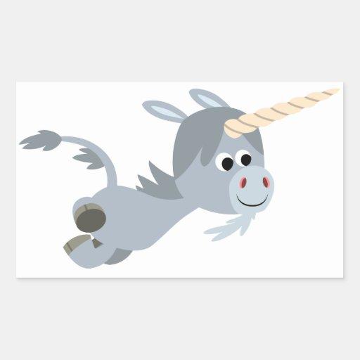 Unicornio lindo del dibujo animado en un pegatina