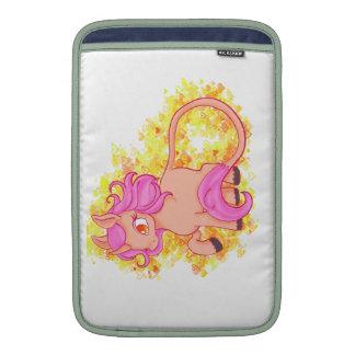 unicornio lindo y femenino fundas para macbook air