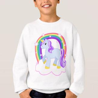 Unicornio mágico lindo con el arco iris sudadera