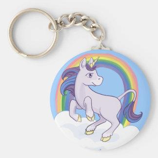 Unicornio mágico lindo del arco iris llaveros personalizados