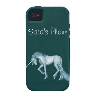 Unicornio mágico verde iPhone 4 carcasas