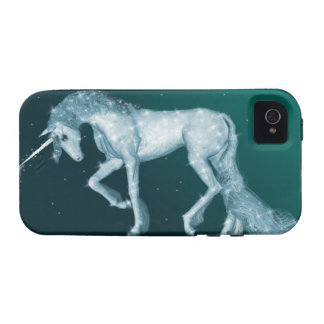 Unicornio mágico verde iPhone 4/4S carcasa