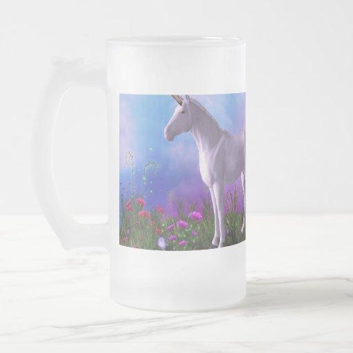 Unicornio majestuoso tazas de café