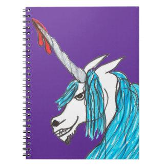 unicornio malvado note book