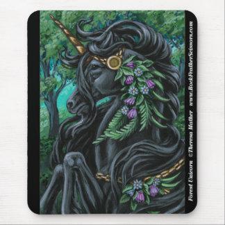 Unicornio Mousepad del bosque Tapetes De Ratón