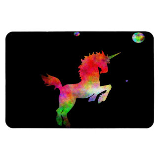 Unicornio Multi-hued del espacio profundo Imanes Rectangulares