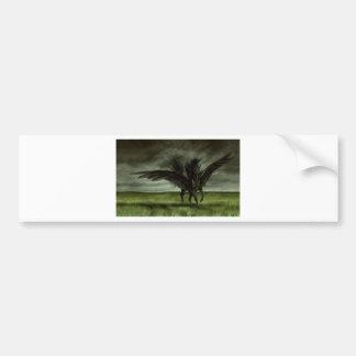 Unicornio negro en campo abierto pegatina para auto