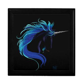 Unicornio negro joyero cuadrado grande