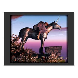 Unicornio negro postales