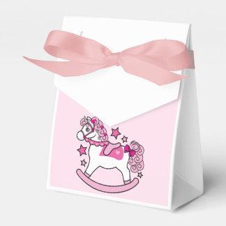 Unicornio oscilante con la melena y la cola caja para regalos de fiestas