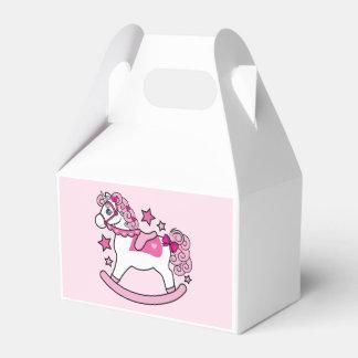 Unicornio oscilante con la melena y la cola cajas para detalles de boda