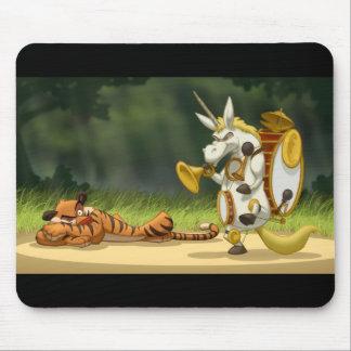 Unicornio pasado Mousepad Tapetes De Ratón
