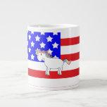 Unicornio patriótico tazas jumbo