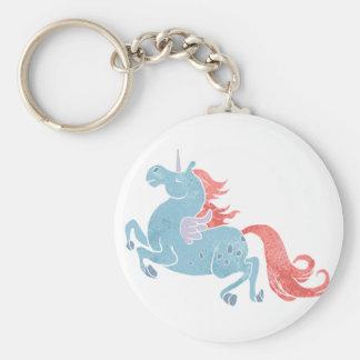 Unicornio Pegaso Llavero Redondo Tipo Pin