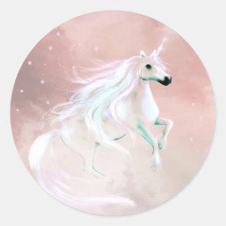 Unicornio Pegatina Redonda