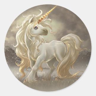 Unicornio Etiquetas Redondas