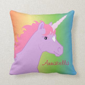 Unicornio personalizado almohada