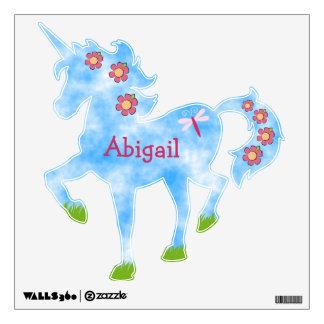 Unicornio personalizado lindo con el cielo y las vinilo adhesivo