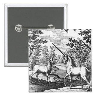 Unicornio - pinback de la insignia del botón de la pins