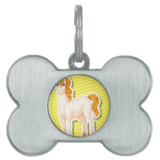 Unicornio Placa De Mascota