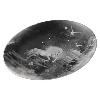 unicornio platos de cerámica