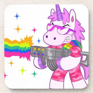 Unicornio púrpura - arma posavasos de bebidas