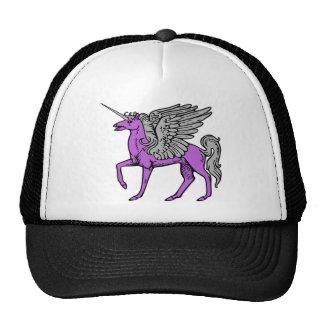 Unicornio púrpura de Alicorn/Pegacorn/Winged Gorro De Camionero