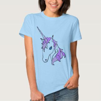 Unicornio púrpura de la chispa camisas