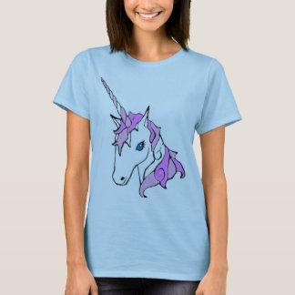 Unicornio púrpura de la chispa playera