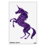 Unicornio púrpura del fractal vinilo adhesivo