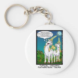 Unicornio que enlaza los regalos y los coleccionab llavero redondo tipo pin