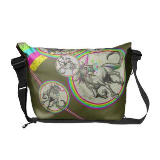 unicornio rabioso malvado con rabia bolsa de mensajería