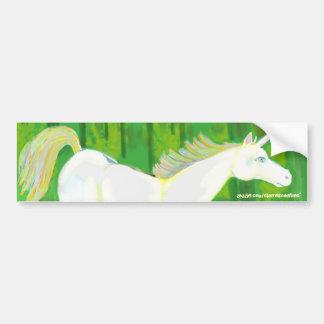 Unicornio real en un bosque Bumpersticker Pegatina Para Auto