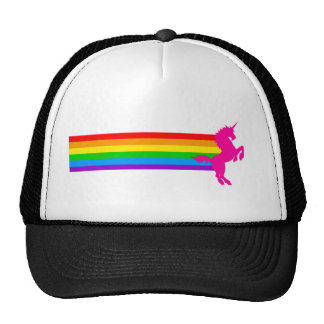 Unicornio retro del arco iris del vintage del tigr gorros bordados
