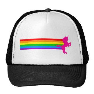 Unicornio retro del arco iris del vintage del tigr gorras