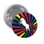 Unicornio retro del arco iris pins
