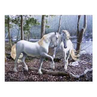 Unicornio Reuion Tarjeta Postal