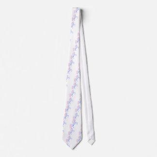 unicornio rosado bonito de la melena corbata personalizada