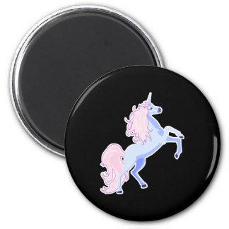 unicornio rosado bonito de la melena imanes para frigoríficos