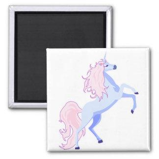 unicornio rosado bonito de la melena iman de nevera
