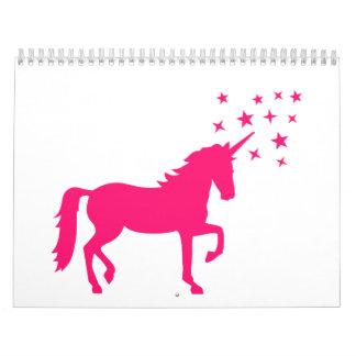 Unicornio rosado calendarios