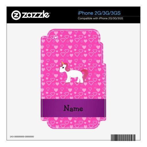 Unicornio rosado conocido personalizado del pelo calcomanía para iPhone 3GS