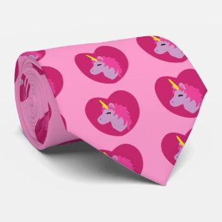 Unicornio rosado corbatas