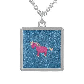 Unicornio rosado del brillo grimpola personalizada