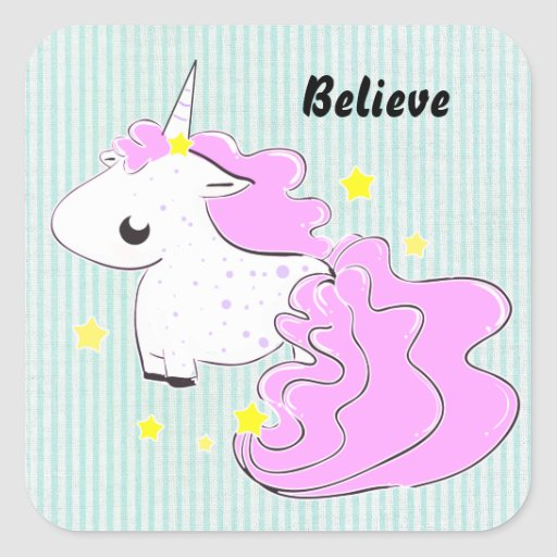 Cartoon Pink Unicorn
