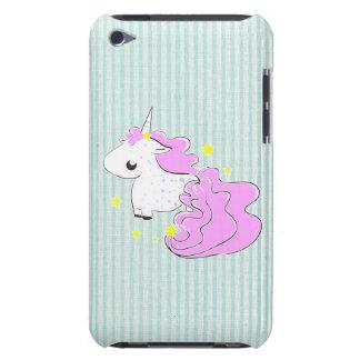 Unicornio rosado del dibujo animado con el tacto d Case-Mate iPod touch cárcasas