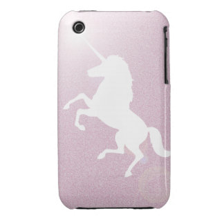 Unicornio rosado invisible - brillo iPhone 3 cárcasas